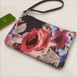 New💐Kate Spade Lolly Brightwater Floral Wristlet